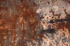 металл заржавел текстура Grungy текстурированная предпосылка - абстрактная ржавчина Стоковая Фотография RF