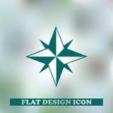 металл иконы зеленого цвета компаса тела разбивочный Веб Стоковое Фото