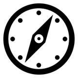 металл иконы зеленого цвета компаса тела разбивочный Стоковое Изображение RF