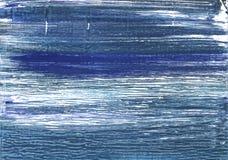 Металлическая голубая абстрактная предпосылка акварели Стоковое Изображение