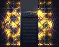 Металлическая золотая предпосылка вектора Стоковые Изображения