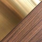 Металлическая картина золота и древесины квадратная Стоковое фото RF