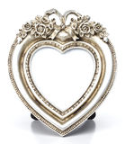 Металлическая картинная рамка формы сердца Стоковое фото RF