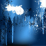 Металлическая краска пропуская и брызгая Стоковая Фотография