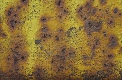 Металлическая покрашенная поверхность с ржавчиной и поцарапанной краской Стоковые Фото