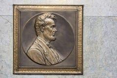 Металлическая пластинка Авраама Линкольна Стоковая Фотография