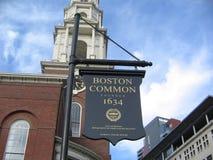 Металлическая пластинка Бостона общая, общее Бостона, Бостон, Массачусетс, США стоковые фото