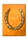 Металлическая пластинка ботинка лошади изолированная на белизне Стоковая Фотография RF