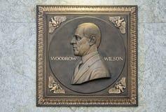 Металлическая пластинка Вудро Вильсона стоковое изображение rf