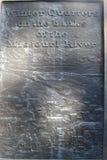 Металлическая пластинка Омаха Небраска кварталов зимы Стоковая Фотография