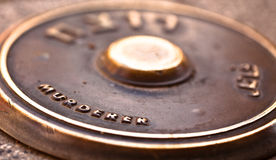 Металлическая пластинка душегуба Yitzak Rabin Стоковая Фотография