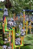 Металлическая статуя коалы Стоковые Изображения RF