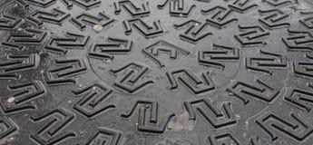 Металлическая текстура с картиной письма Pi Стоковое фото RF
