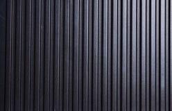 Металлическая striped черная предпосылка текстуры Стоковое Фото