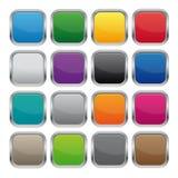 Металлические квадратные кнопки иллюстрация вектора