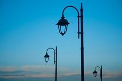 Металлические поляки на переулке Стоковые Фото