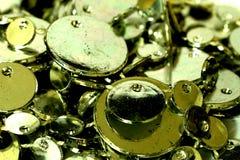 Металлические серебряные монеты Стоковые Изображения RF