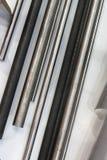 Металлические стержни различных диаметров Стоковое Фото
