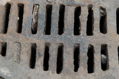 Металлические текстуры на люке -лазе сточной трубы Стоковое Изображение RF