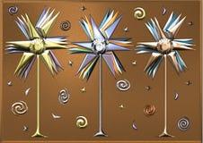 Металлические Pinwheels Стоковое Изображение