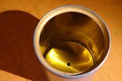 Металлический бак подробно с тенью Стоковое фото RF