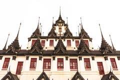 Металлический замок в буддийском виске Бангкоке, Таиланде стоковые изображения rf
