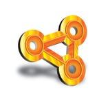 металлический знак 3d Стоковые Изображения RF