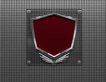 Металлический значок Стоковое Изображение RF