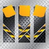Металлический комплект ярлыков с x сформировал линии grunge иллюстрация вектора