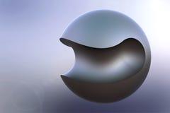 Металлический шар Изгибать-отрезка Стоковые Фотографии RF