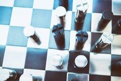 Металлический шахмат на борту Стоковая Фотография