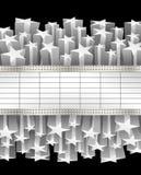 Металлическое знамя Стоковое фото RF