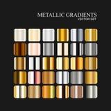 Металлическое собрание серебра, золотых и бронзовых градиента Стоковое фото RF