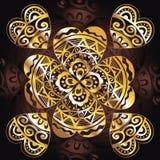 Металлическое zentangl сердец Стоковая Фотография RF