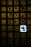 Металл и покрашенная стеклянная лестница внутренние Стоковые Фото