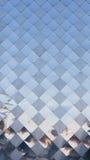Металл квадратной плиты декоративный Стоковое Фото
