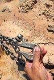 металл крюка для цепного блока Стоковое Изображение