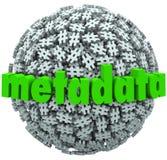 Мета - метаданные Hashtags сферы бирки хэша фунта номера данных иллюстрация вектора