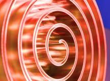 Металл металла отполированный спиралью поле глубины отмелое Стоковая Фотография