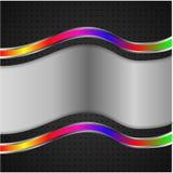 Металл на черной предпосылке Стоковое Изображение RF