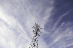 Металл опоры электричества стоковые изображения rf