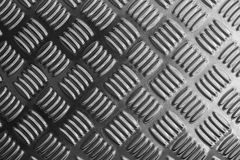 Металлопластинчатый конец-вверх в черно-белой сцене Стоковое Фото