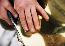 Металл отрезка руки стоковое изображение rf