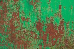 металл покрасил ржавой Стоковое Фото