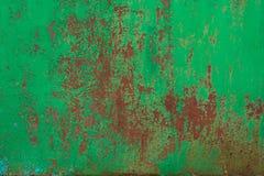 металл покрасил ржавой Стоковая Фотография
