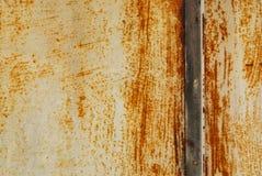 Металл покрашенный белизной с ржавчиной Стоковое Изображение
