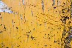 Металл предпосылки желтый Стоковые Фото