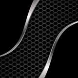 металл предпосылки черный Шестиугольная решетка также вектор иллюстрации притяжки corel Стоковое фото RF
