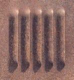 Металл текстурированный предпосылкой ржавый Стоковое Фото