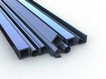 Металлургические материалы на белой предпосылке Стоковое Фото
